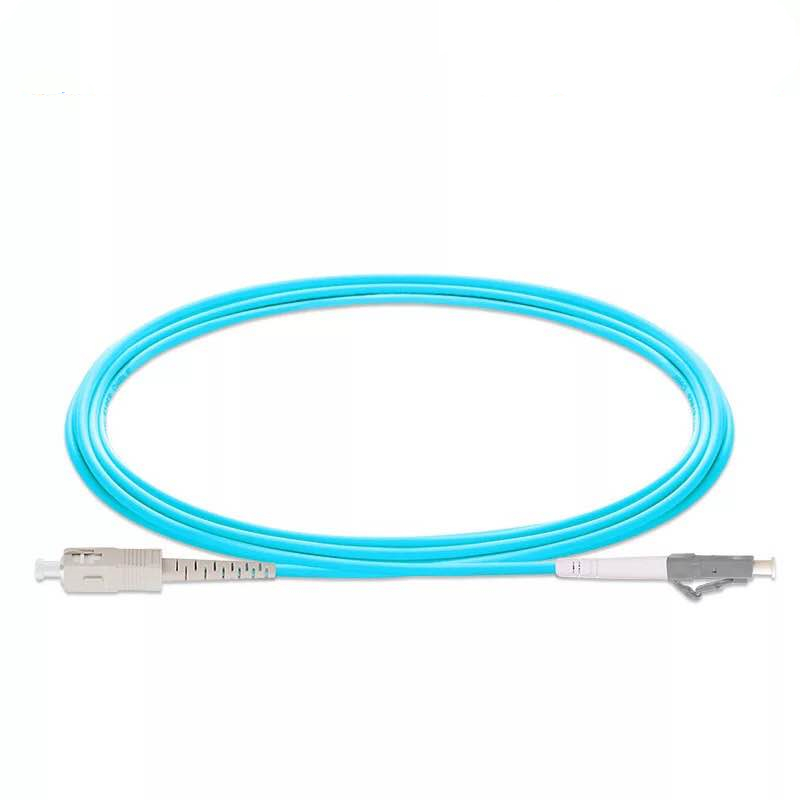 5PCS/lot SC/UPC -LC/UPC OM3 Fiber Optic Patch Cord 3m 5m 10m 20m 25m 30m 10G 50/125 Fiber Cable Multimode Simplex Optical Jumper