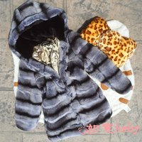 Popular new Girl's rabbit fur coats,Children's rex rabbit fur coat,Cute Baby winter coat Chinchilla overcoat free shipping CB05N