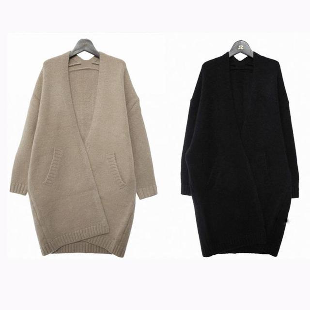 2015 Otoño E Invierno Abrigo de Maternidad Embarazada Mujeres Grueso Abrigo Suéter de Punto Color Sólido Sueltos Yardas Grandes Mujeres Suéter de La Rebeca