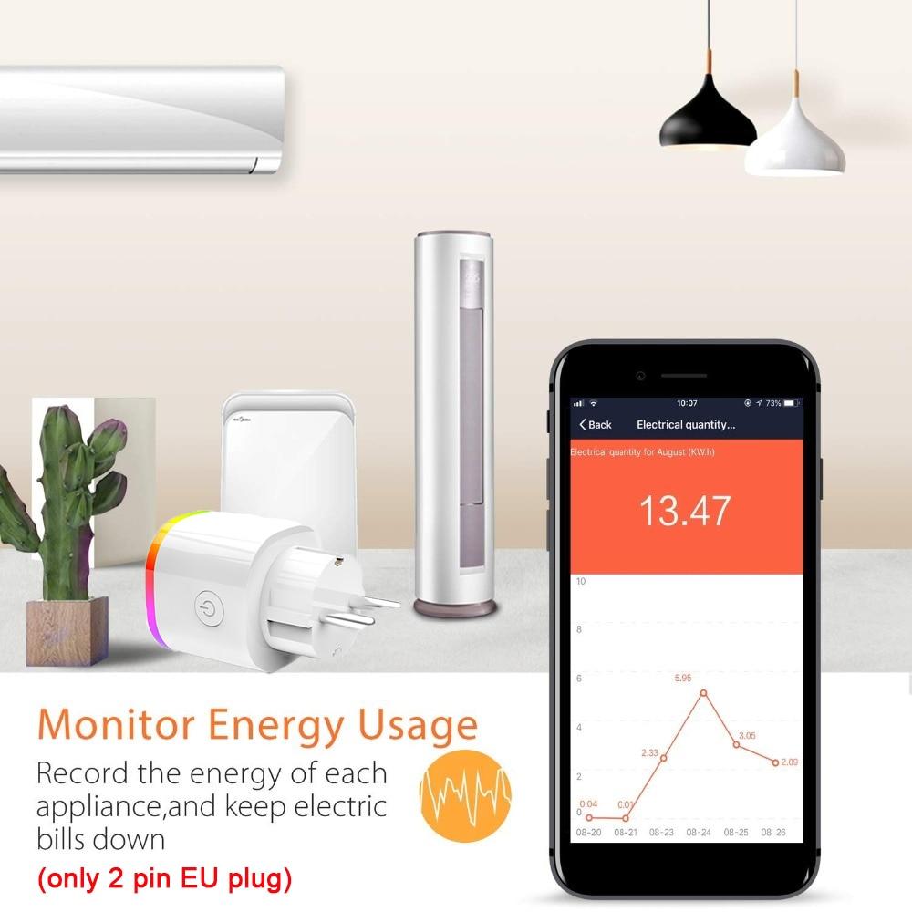 Lonsonho Wifi Smart Plug Tuya Smart Socket Smartlife EU France US AU UK Poland Korea Plug Compatible Alexa Google Home Mini
