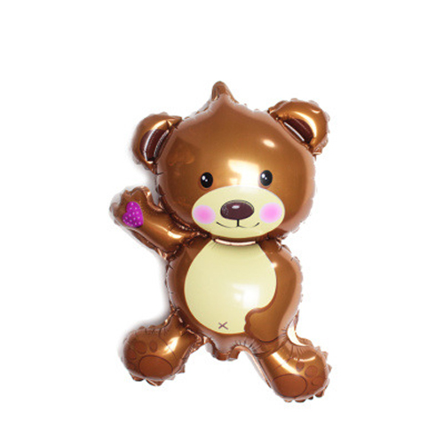 Mini Bear Balloon Children Birthday Decoration Animals Aluminum Film Balloons Graduation Gift For Party in Ballons Accessories from Home Garden