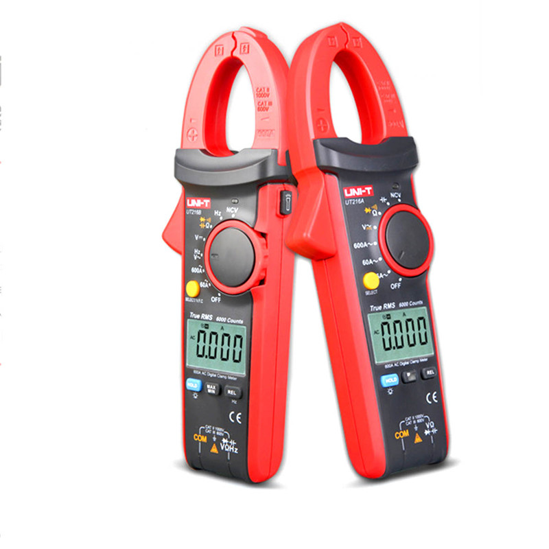 Uni T Ut216C 600a True Rms Digital Clamp Meters Auto Range W Frequency Capacitance Temperature & Ncv Test multimeter mastech ms2015b 6600 counts 1000a ac clamp meters w capacitance frequency temperature