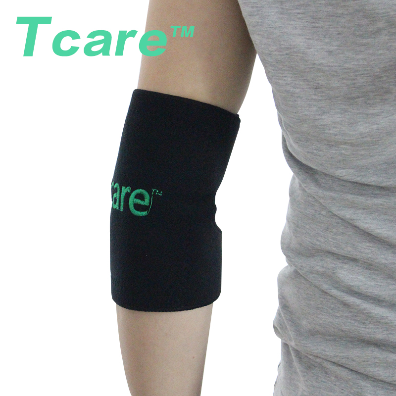 1 Pair Tcare Health Care Tourmaline Self-heating Elbow Brace Elbow Pad Massager Magnetic Therapy Elebow Support Pads Massager
