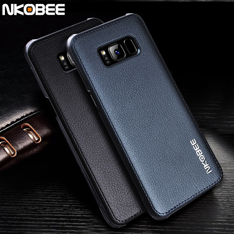 low priced b9f11 7e3a2 US $4.99 |NKOBEE Cover For Samsung S8 Case Leather Hard Back Coque For  Galaxy S8 Case Slim Luxury For Samsung Galaxy S8 Plus Case Cover -in ...