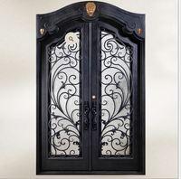 Custom Design Forged Wrought Iron Front Doors Iron Doors Iron Entry Doors H Wid7