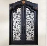 Shanghai China factory producing wrought Iron doors high quality export to U.S ,model h wid7