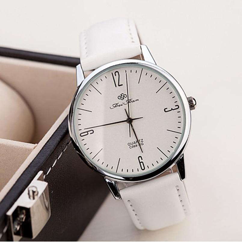New Arrive 2018 Top Brand Design Luxury Business Watches Mens Fashion Quartz Clock Leather Strap watches Relogio Masculino