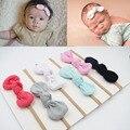Wholesale Baby Girls Nylon Headband Bow Head Band Hair Accessories Elastic Rabbit Ear Knot Hairband for Infant Toddler 60Pcs/Lot