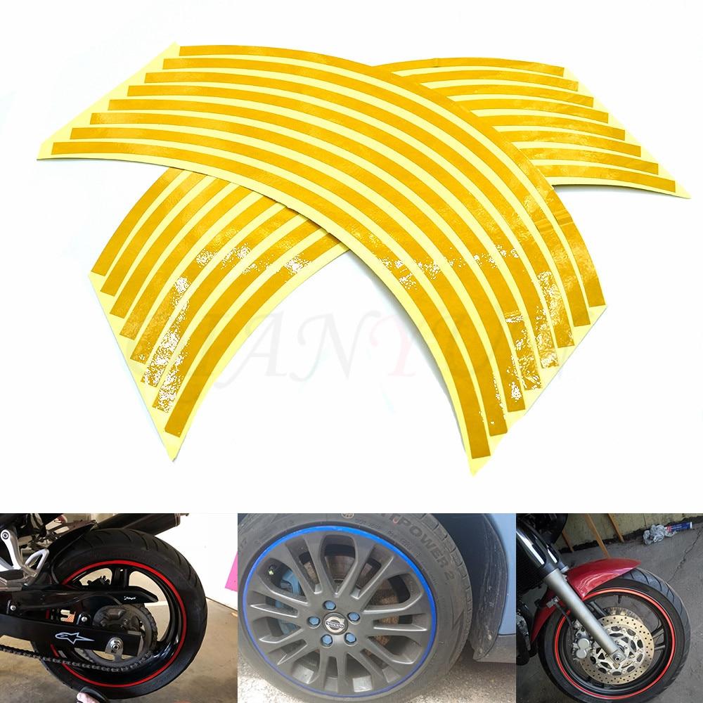 Motorcycle Styling Wheel Hub Tire Reflective Sticker Car Decorative Stripe Decal For Honda VFR 750 800 VTR1000F CBF1000 VF750S