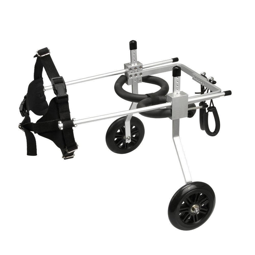 Ev ve Bahçe'ten Çeviklik Ekipmanları'de Ayarlanabilir Köpek Sepeti 2 Tekerlekli Sandalye Pet Hareketlilik Köpek Tekerlekli Sandalye Engelliler için Pet Köpek S/M/L'da  Grup 2