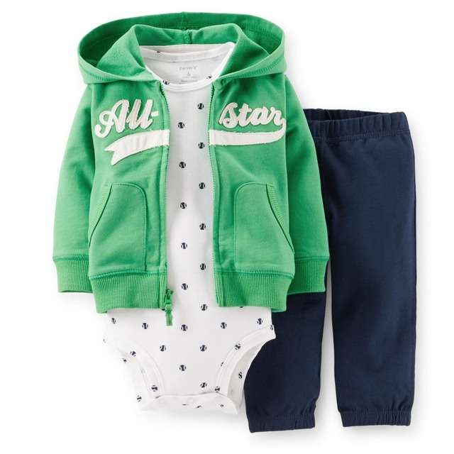 LSL3-039,Original,New Arrived,Baby Boys 3-Piece Hooded Cardigan Set,Spring And Autumn Wear,Super Quality, Free Shipping