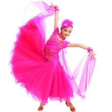 New fashion kid girls  ballroom Standard dance dress dance clothing stage performance  Modern dance costumes