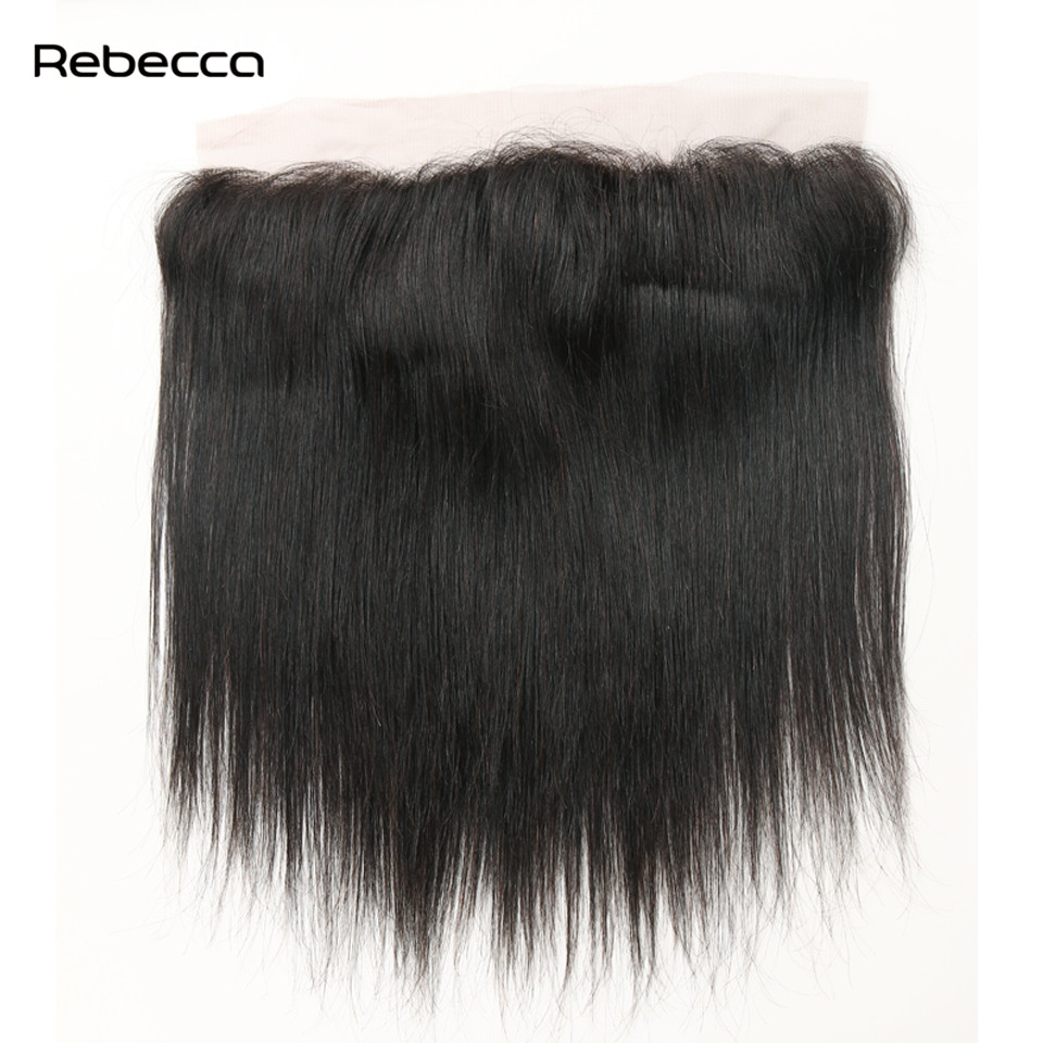 Brazilian Remy Hair Straight Lace Frontal Closure Bundles With Clip In Human Hair Extensions Rebecca Hair