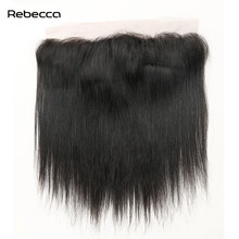 Brazilian Remy Hair Straight Lace Frontal Closure Bundles With Clip In Human Hair Extensions Rebecca Hair Natural Black Color