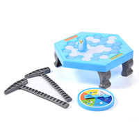Mini Puzzle Table Games Penguin Ice Breaking Balance Ice Cubes Knock Ice Block Wall Toys Desktop
