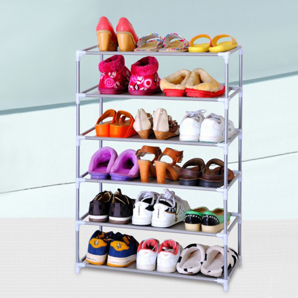 4/6 layer Living Room storage Furniture Portable Shoe Racks Folding Multilayer Non Woven Fabric Combination Shoes Shelf