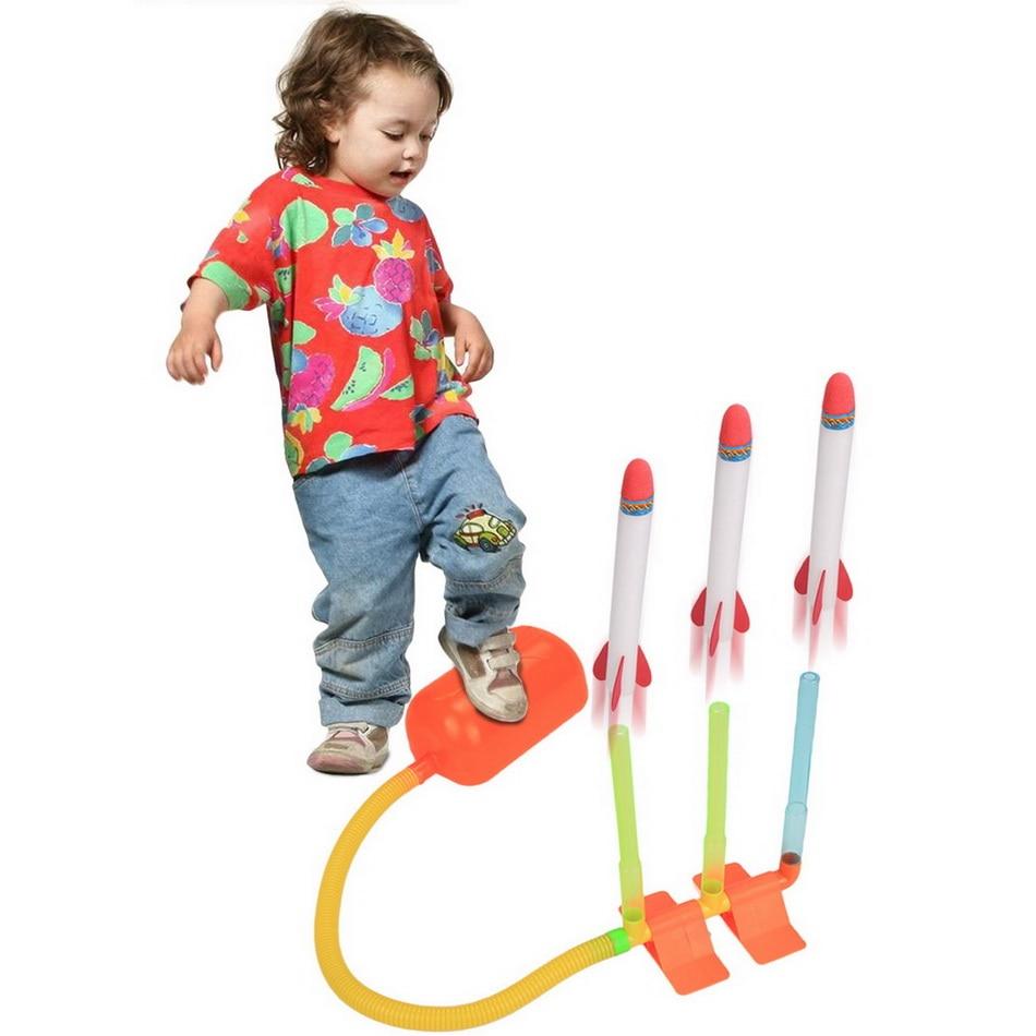 Rocket Toys For 3 Year Olds : Arshiner kids children pump lighting rocket dueling
