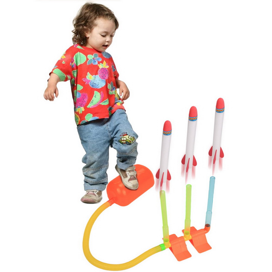 Arshiner Kids Children Pump Lighting Rocket Dueling <font><b>4</b></font> Rocket Kit Above <font><b>3</b></font> Years Old New Boy Girl Toys