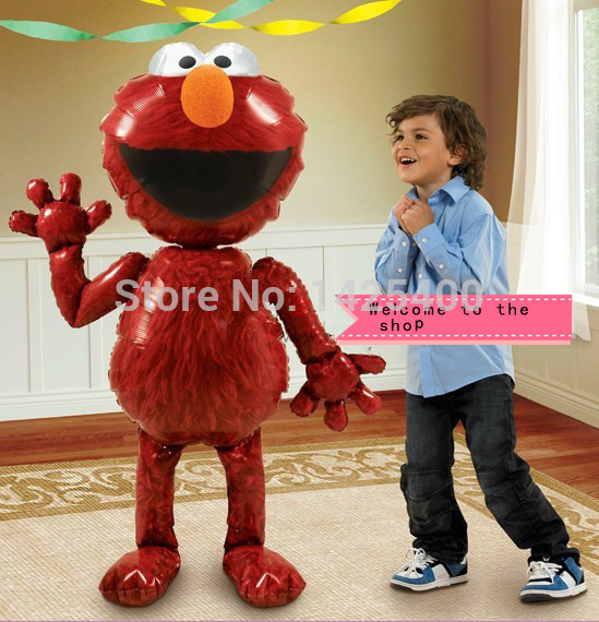 TSZWJ Free shipping import aluminum film balloon toy for children party holiday Sesame Street Elmo balloons