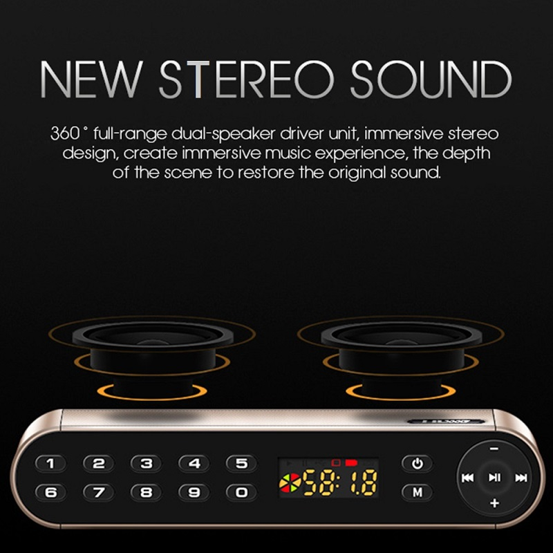 TOPROAD HIFI Wireless Bluetooth Speaker With Super Bass Dual Speakers Soundbar And FM Radio 6