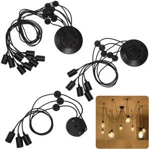 Image 5 - בציר נורדי עכביש תליון מנורת מרובה מתכוונן רטרו תליון אורות לופט