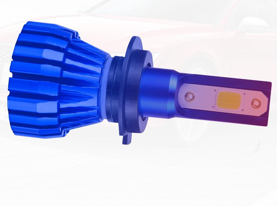 Foxcnsun 2Pcs Mini 6500K 4300K 5000LM COB H1 H4 LED H7 Car Headlight 50W Hi-Lo lights H8  H11 led 12V light bulbs for cars truck (5)