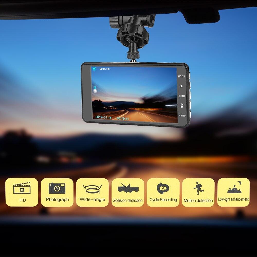 Автомобильная камера 170 ° HD видеорегистратор радар детектор зеркало регистратор G Shock автоматическая запись обнаружения движения