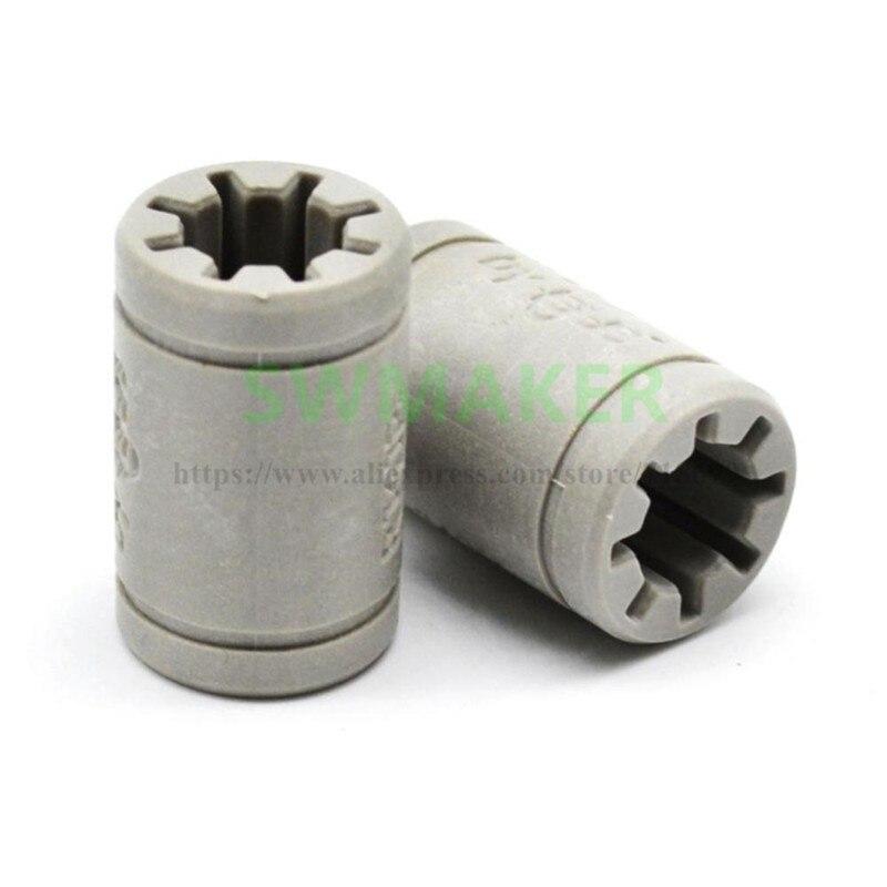 1pcs RJ4JP-01-08 Solid Polymer LM8UU Bearing 8mm shaft Drylin for Anet A8 Reprap Prusa i3 3D Printer