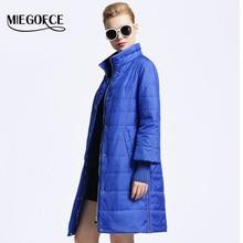 Стеганый miegofce битник теплое покроя свободного пиджак куртки хлопка одежды весна