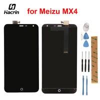 Hacrin Voor MEIZU MX4 Lcd-scherm Hoge Kwaliteit Lcd sreen + Touch panel montage vervanging Voor MEIZU MX4 mobiel Gratis verzending