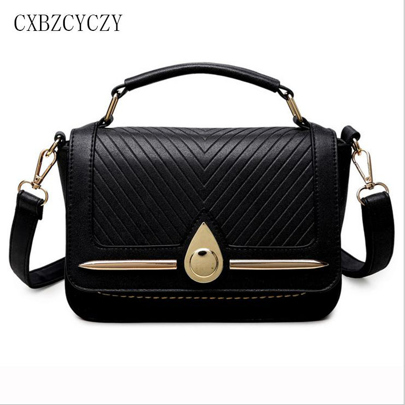 Women Bag Pu Leather Crossbody Shoulder Bags Handbags Women Famous Brand Designer Purses Bolsas Female Small Black Square Bag memunia 2017 fashion flock spring autumn single shoes women flats shoes solid pointed toe college style big size 34 47