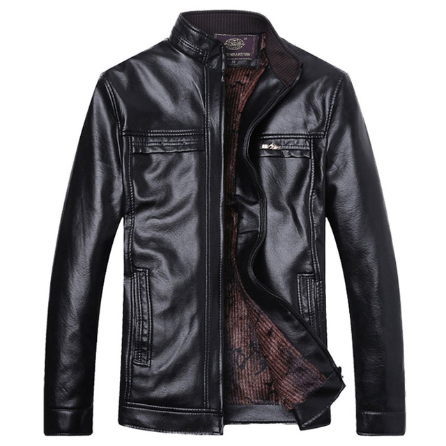 Men's Leather Jacket 5XL Business Casual Haining Leather Jacket Men Coats Jaquetas High Quality New Style Brand Luxury  54