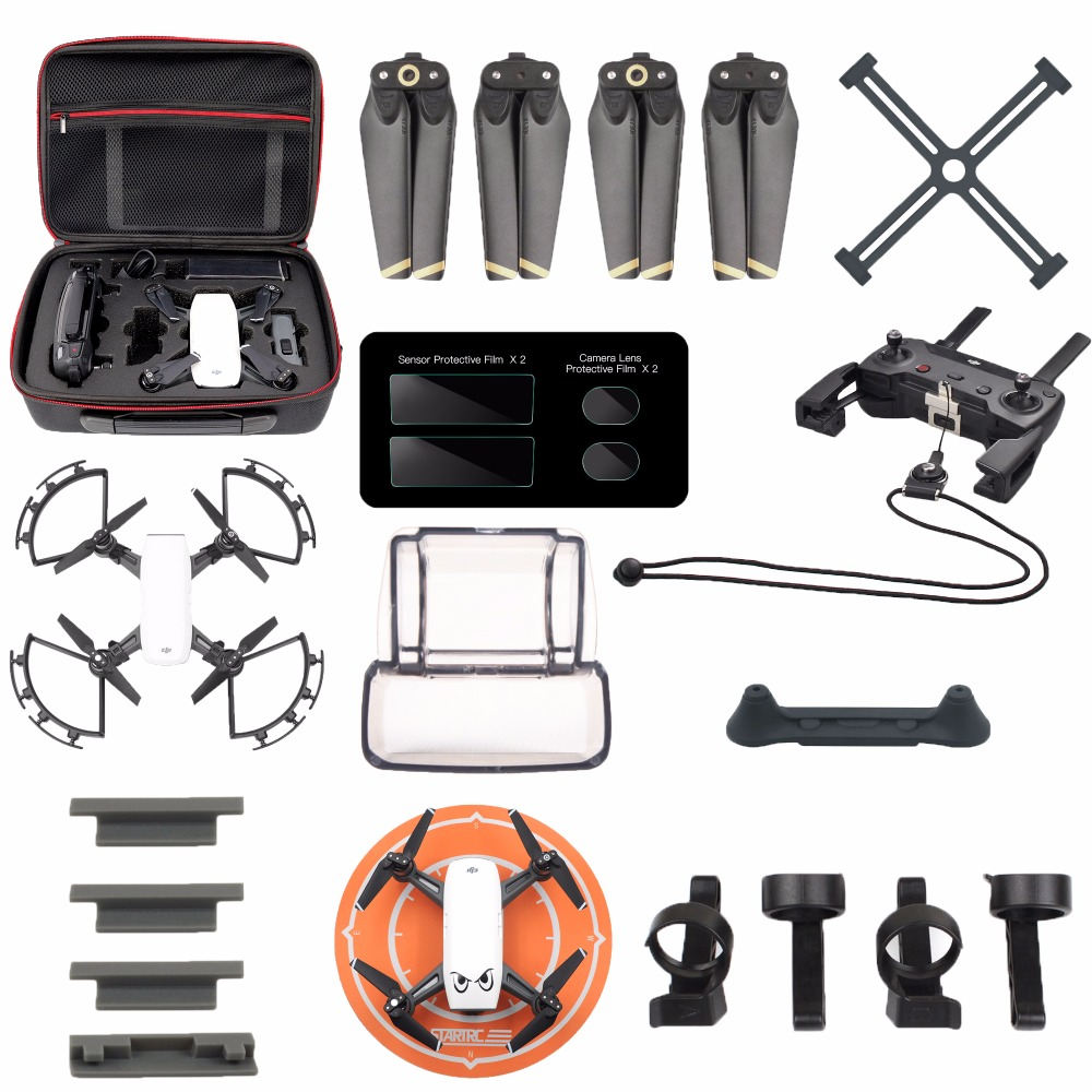 Drone accessories kits for dji spark bag case propeller for 2 case kit di storia
