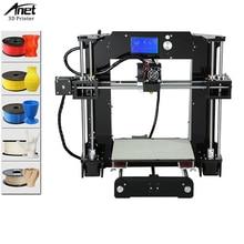 Anet A6 3D Printer Kit Reprap i3 3D Printer Kits DIY Self Assembly 3D-Printer With High Precision Big Size Desktop LCD Screen createbot super mini light weight metal frame 3d printer kits single extruder touch screen not diy with 85 80 94mm build size