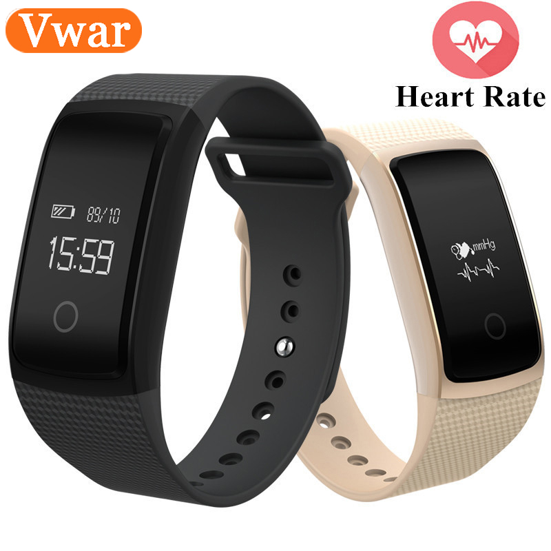 Vwar A09 Smart Watch Blood Pressure Oxygen Band Heart Rate Health Monitor Tracker Activity Bluetooth Waterproof