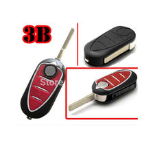 Old Style 3 Button Flip Remote Key Case For Alfa Romeo 5pcs/lot