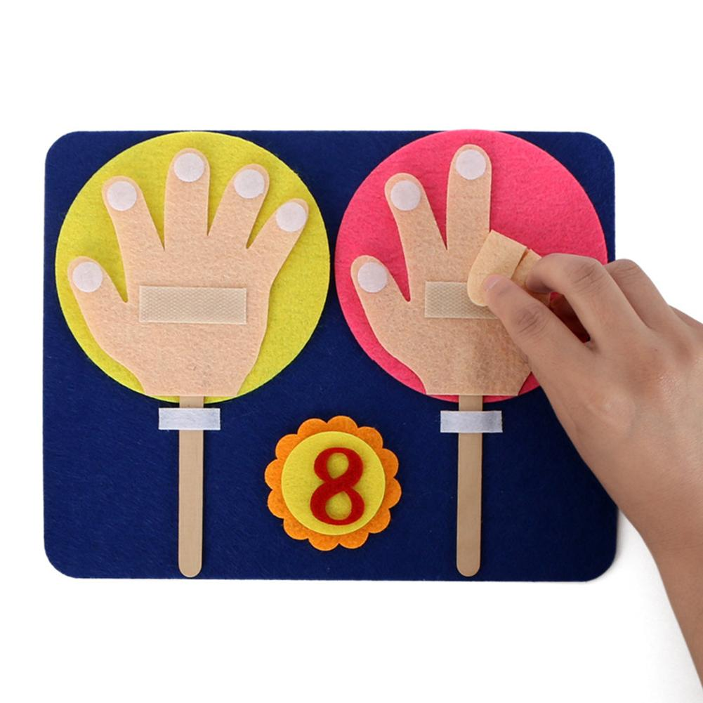 Cute Cloth Finger Counting DIY Math Number Learning Kit Children Educational Toy Finger Numbers Set Maths Teaching Aid