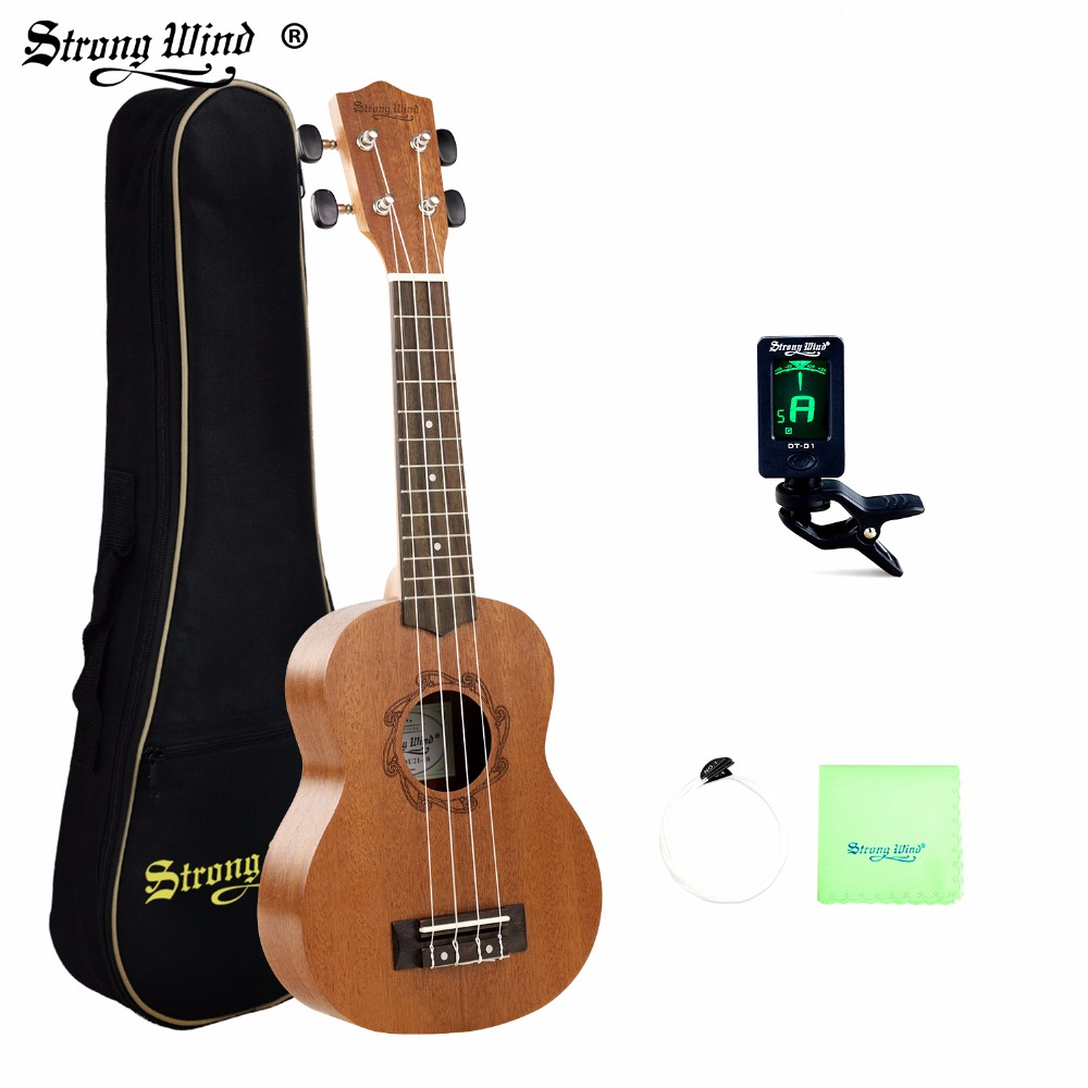 Strong Wind Ukulele 21 Inch Soprano Concert Ukulele 4 Strings Guitarra Sapele Rosewood Guitar Hawaii Instrument for Beginners zebra professional 24 inch sapele black concert ukulele with rosewood fingerboard for beginner 4 stringed ukulele instrument