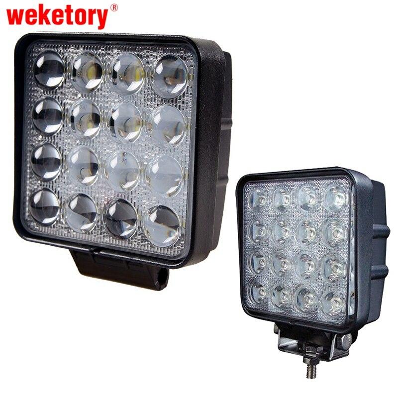 Weketory 48 W 4.5 pollice LED Lavoro Luce di Inondazione Lampada di Guida per Auto Camion Ribaltabile SUV Offroads Barca 12 V 24 V 4WD