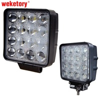 48W 4 5 Inch LED Work Light Flood Driving Lamp For Car Truck Trailer SUV Offroads