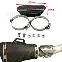 Motorcycle Accessories For Akrapovic Carbon Fiber Heat Shield For HONDA YAMAHA KAWASAKI BMW DUCATI SUZUKI KTM