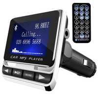 FM Transmitter, Auto Sender MP3 Player Hand-Freies Aufruf Radio Audio Adapter Bluetooth Transmitter Auto Kit, USB Ladegerät, TF C