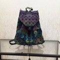 2016 Новый Бао бао женщины nano мешок Решетки Алмаза Сумка геометрия Стеганые рюкзак мешок сумки женщины хамелеон серии