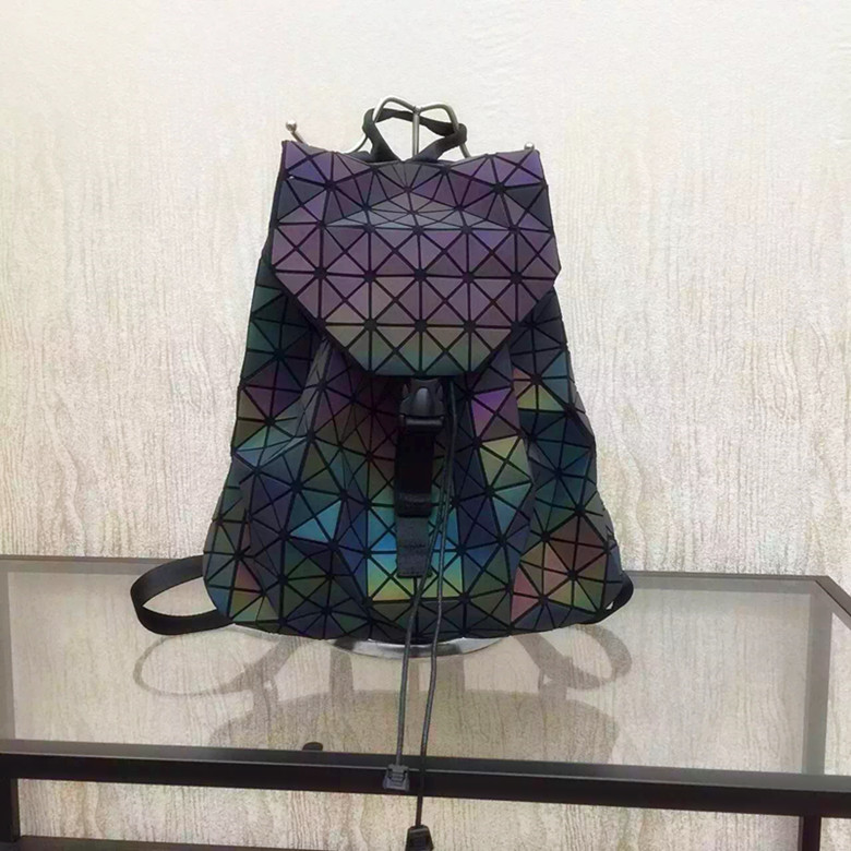 Biseafairy Luminous font b Backpack b font Diamond Lattice Bag Travel Geometric font b Women b