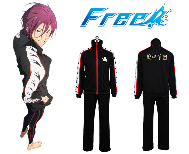 Gratuito! - Iwatobi Swim Club Matsuoka Rin Jacket Coat Costume Cosplay per uomo donna