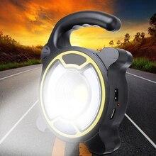 цена на Outdoor Portable Lantern Tent Lamp COB LED Work Light Torch Hiking Travel Super Bright Camping Lights Flashlight 2Colors