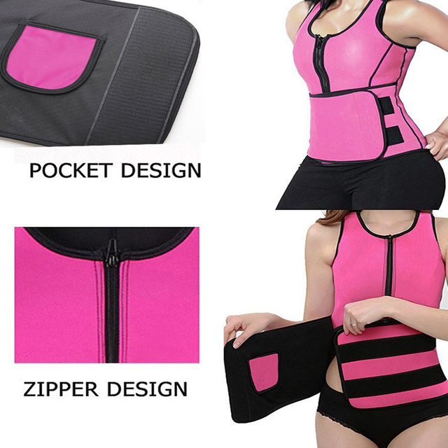 Vest Waist Trainer Corset Shapewear best Selling Sweat Waist Trainer Vests Slim Workout Weight Loss Belt Tummy Sweat Belt 3