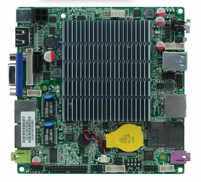 Двойной Lan celeron J1900 J1800 двухъядерный безвентиляторный мини ПК нано материнская плата 1 * COM торговый автомат 12*12 см 10 Вт низкая мощность DC