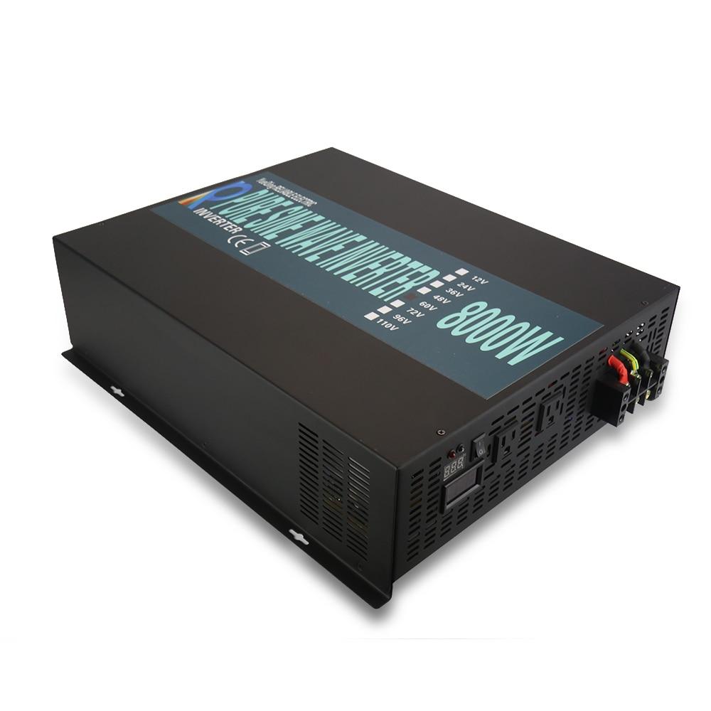 8000W Pure Sine Wave Inverter 24V 230V Generator Inverter Solar System DC to AC Converter 12/48V to 120/220/240V Remote Control irg4bc15ud to 220