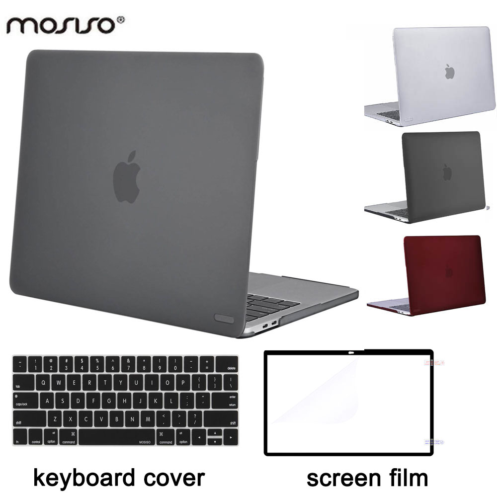 low priced 48658 3acb5 US $11.43 12% OFF|MOSISO Laptop Accessories Plastic Hard Case for Macbook  Pro13 Touch Bar Pro15 A1990 A1707 2016 2017 2018 Pro13 A1989 A1706 A1708-in  ...